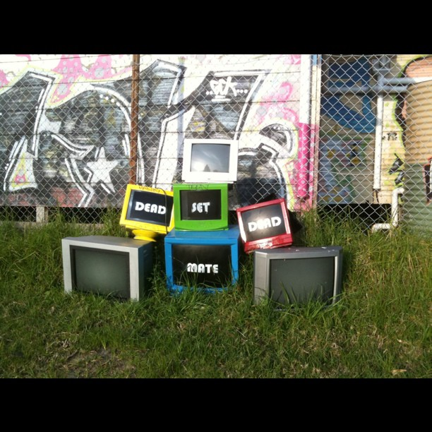 Street Art Melbourne - TV sculpture